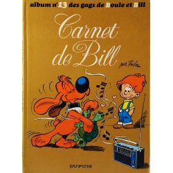 Boule et Bill 13 réédition - Carnet de Bill