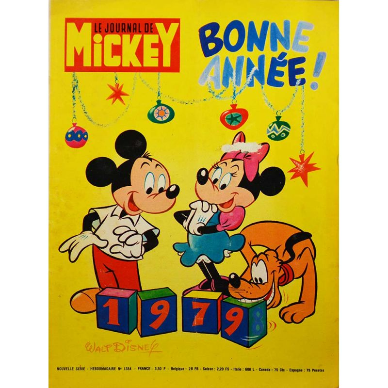 p riodique journal de mickey 1384 7 janvier 1979 bd. Black Bedroom Furniture Sets. Home Design Ideas
