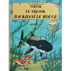 Tintin 12 réédition 1975 - Le trésor de Rackham Le Rouge