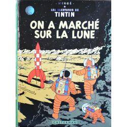 Tintin 17 réédition 1973 - On a marché sur la Lune