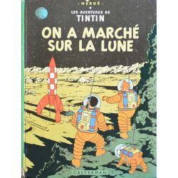 Tintin 17 réédition 1975 - On a marché sur la Lune