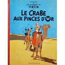 Tintin 9 réédition 1960 - Le crabe aux pinces d'or