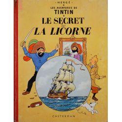 Tintin 11 réédition 1962 - Le secret de la Licorne