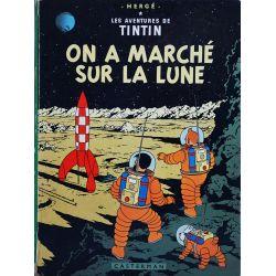 Tintin 17 réédition 1969 - On a marché sur la Lune