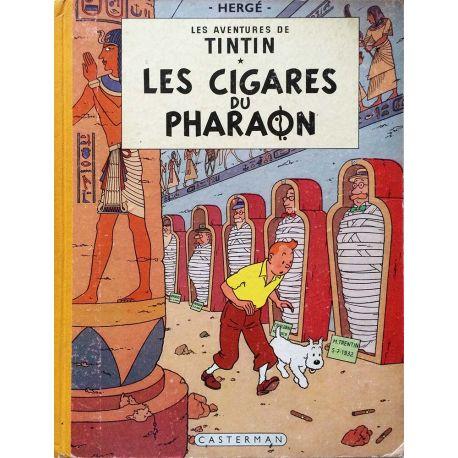 Tintin 4 réédition 1955 - Les cigares du Pharaon