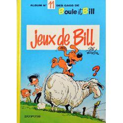 Boule et Bill 11 (réédition BE--) Jeux de Bill