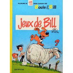 Boule et Bill 11 (réédition EM) Jeux de Bill