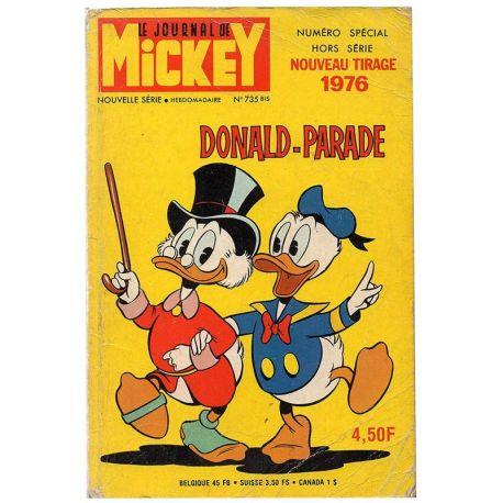 Mickey Parade (1ère série) 735 bis - nouveau tirage 1976 - Donald-Parade