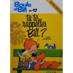 Boule et Bill 17 réédition - Tu te rappelles, Bill ?
