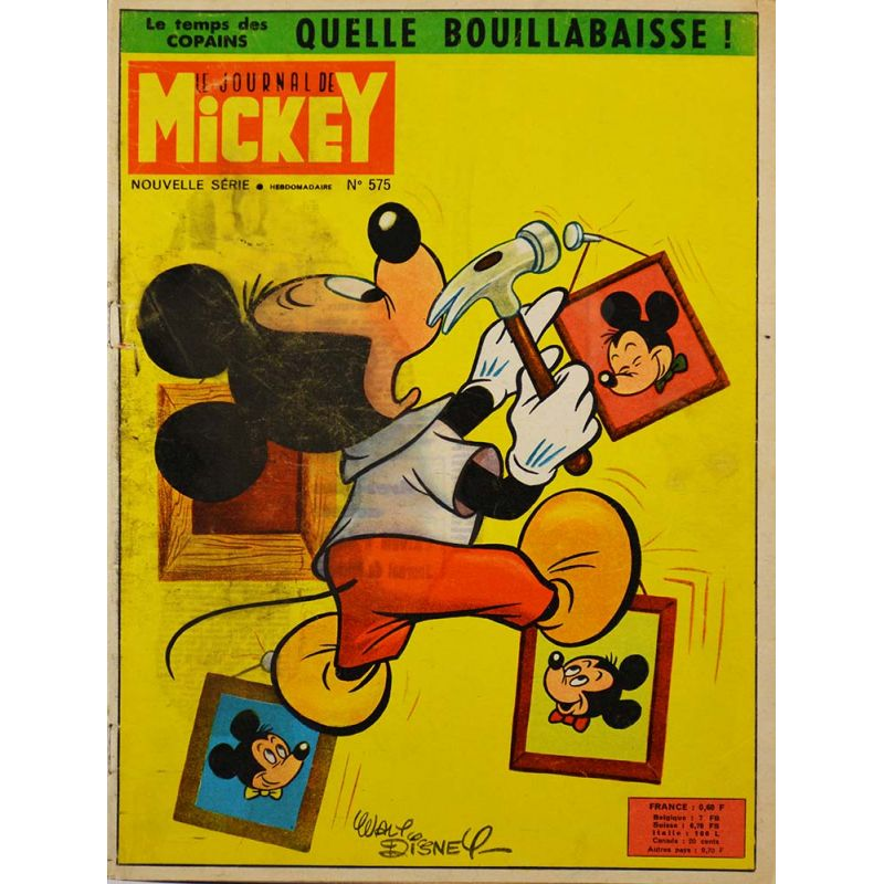 p riodique journal de mickey 575 2 juin 1963 bd. Black Bedroom Furniture Sets. Home Design Ideas